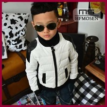 tb6140 Korean children's clothing jacket boys down leather jacket motorcycle models of mixed colors boys jacket