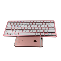 Rose Gold BK3231bluetooth 3.0 slim wireless keyboard with CE, FCC, Rosh