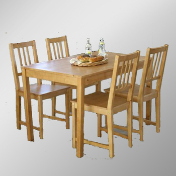 Solid Pine Dining Table And Chairs/Wooden Dining Table And Chairs