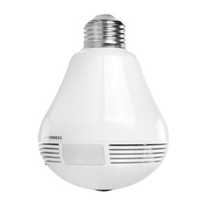 wifi wireless 360 degree panoramic hidden camera light bulb sd card with night vision and micro sd card slot storage