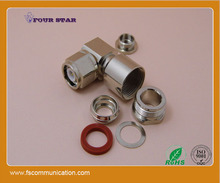 TNC plug 90 degree clamp hexagonal screw connector for LMR400 cable