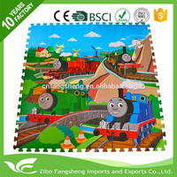 2016 hot sale eva foam play mats cartoon puzzle mat for kids with high quality