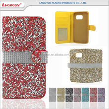 Luxury diamond wallet style mobile phone leather flip case cover for huawei honor ascend shot x P8 lite P9 plus max