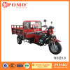 South America Strong Cargo Box Heavy Load 250CC Cargo Closed Cabin Passenger Tricycle