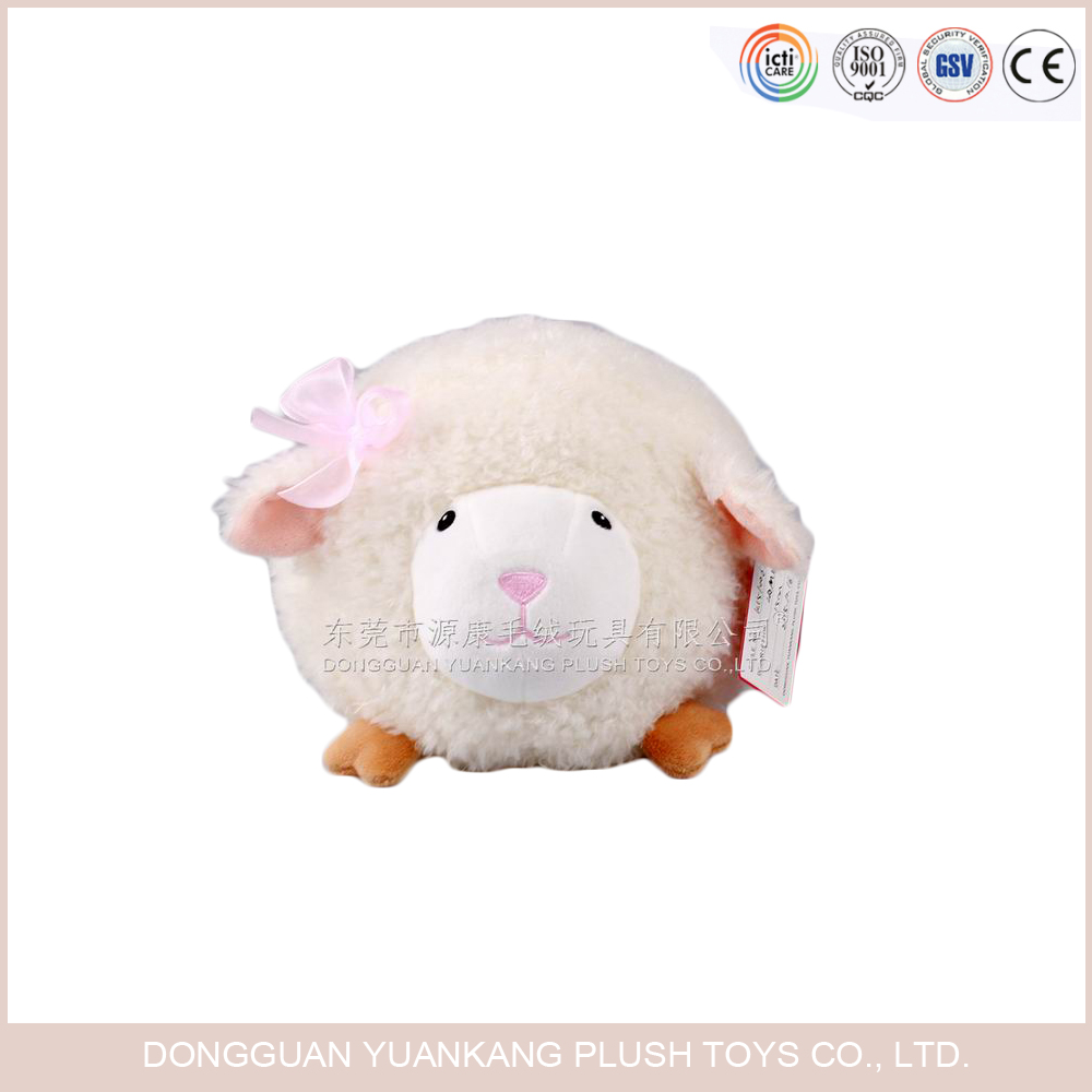 Stuffed baby soft toy fur curly lamb