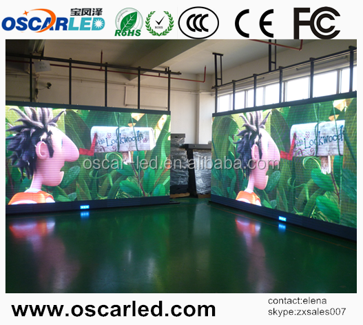 Shenzhen Oscarled big pixel pitch led screen / soft led strip screen display