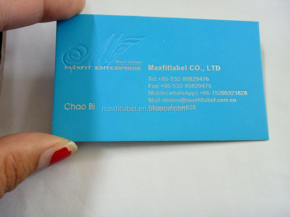 2017 hot sale Letterpress Embossing Business Card Printing
