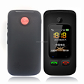 Pros elderly care products sos emergency call mobile phones with dual screens