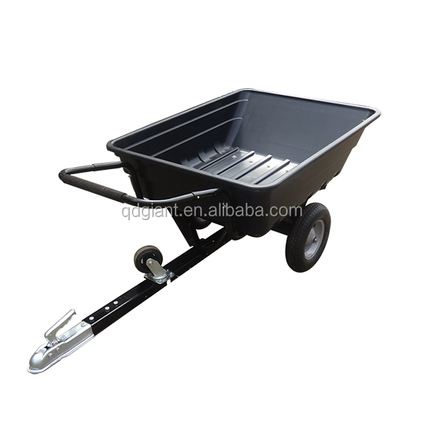 TUV Verified 10 cuft Utility Plastic ATV Trailer cart