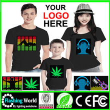 Washable light up music t-shirts for Christmas