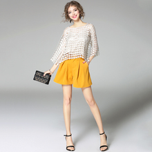 High Quality ladies designer two pieces sweet beautiful women short Skirt Suits casual