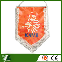 cheap printing mini polyester pennant flag and banner flag