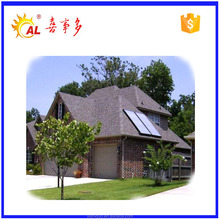 High efficiency flat panel pressurized solar hot water collector for Buildings