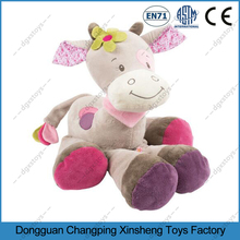 cartoon Professional customized soft plush animal toys musical giraffe baby toy