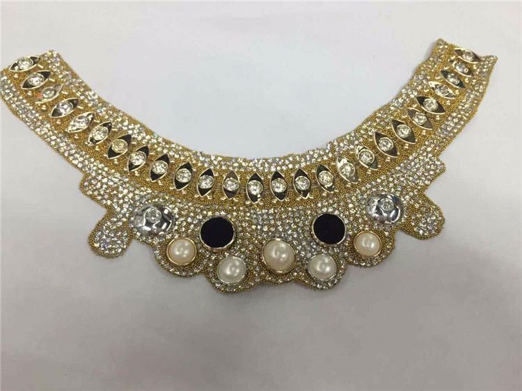 Modern style good quality pearl and beads lace trimming with good prices