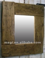 Reclaimed Wood Rustic Chic Modern Wood Wall Mirror Frame