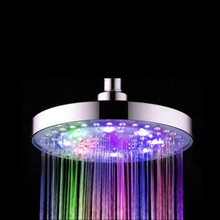8 Inch round ABS plastic LED luminous top spray rain shower head