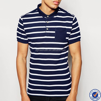 high quality slim fit polos men new fashion branded wholesale striped polo shirt