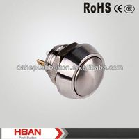 CE ROHS 12mm momentary domed pin terminal push button switch