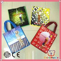 ICTI SEDEX factory promotion and elegant non woven shopping tote bag