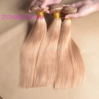 Wholesale #27 Honey Blonde Virgin Brazilian Hair Weaving