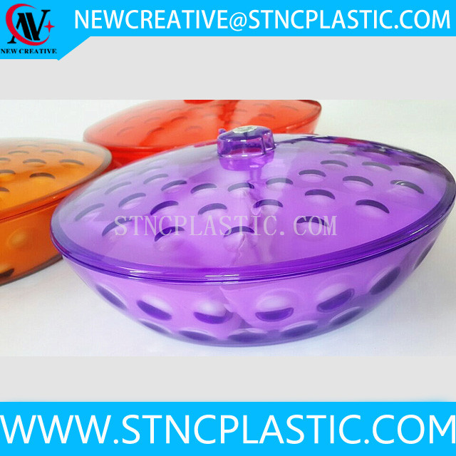 5 dividers chinese new year plastic candy tray with lid