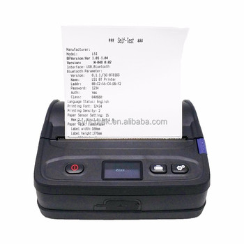 4 inch Dust Protected thermal Android and iOS Mobile Printer