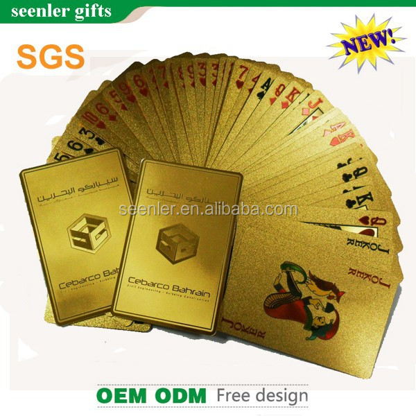 24k gold poker cards with SGS certifications