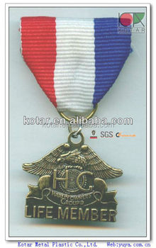 Custom 3d russia eagle antique bronze medal