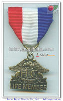 Custom 3d russia eagle metal souvenir medal with antique bronze plating