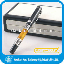 2014 Carved Transparent acrylic metal fountain pen