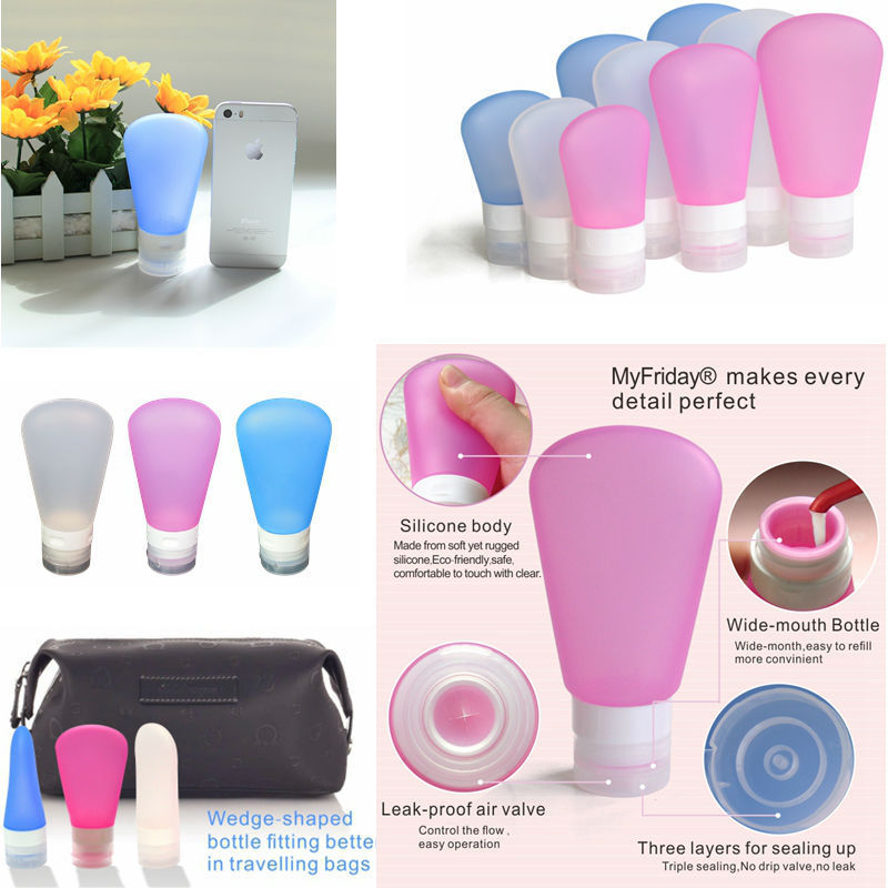 Cosmetic Jars Wholesale/Squeezable Leak-proof Fashion Silicone Travel Bottle&Container For Body Wash&Lotion Pet Food