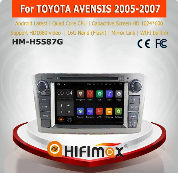 Hifimax double din car dvd gps for toyota avensis car dvd player toyota avensis car dvd /monitor