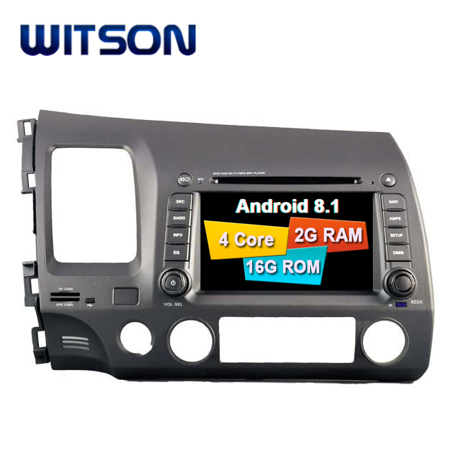 WITSON ANDROID 8.1 FOR HONDA CIVIC 2006-2011 2 DIN CAR AUDIO DVD WITH GPS