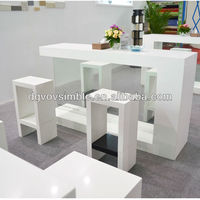 Well-Dressed Table Top Counter Design /Composite Acrylic Bar Counter For Cafe Shop