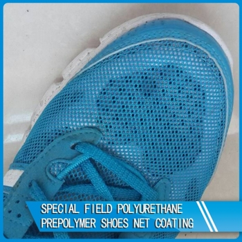 Excellent flowability polyurethane prepolymer for shoes net coating (SPF-555)