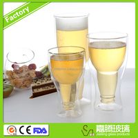 350ml Double Wall Glass Beer Cup Double Wall Glass