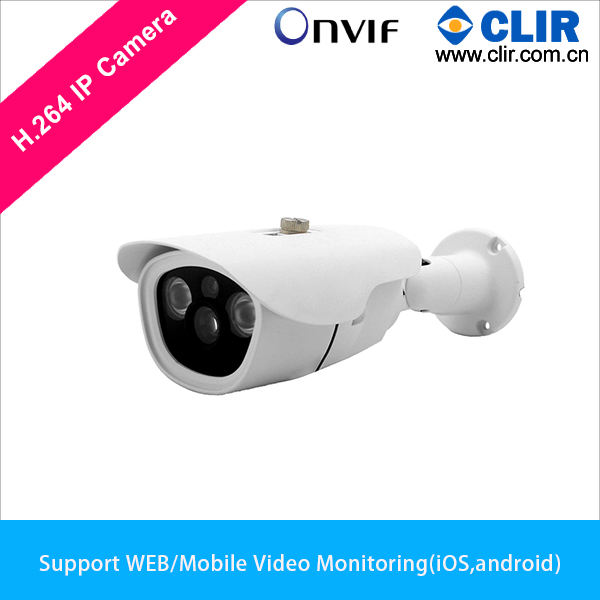 ONVIF Outdoor 2pcs Array IR Leds 1.0 Megapixel 720P POE IP Camera