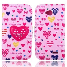 For LG L70 Case Cute Cartoon Flip Wallet Stand PU Leather Case With Card Holder Printed Cover for LG L70 Case