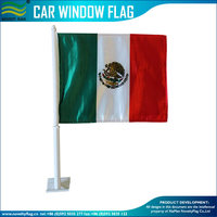 High Quality PP Pole Mexico Car Flag