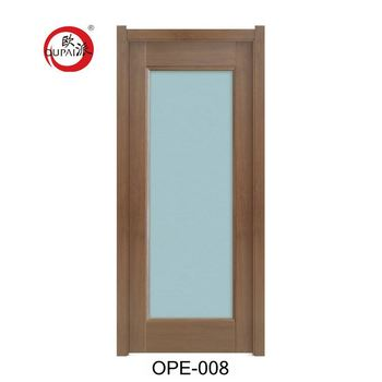 New Model Design Good Quality House Wooden Frosted Privacy Glass Door