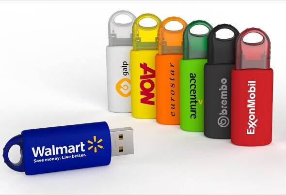 promotional usb flash drive spring slide push and pull pendrive