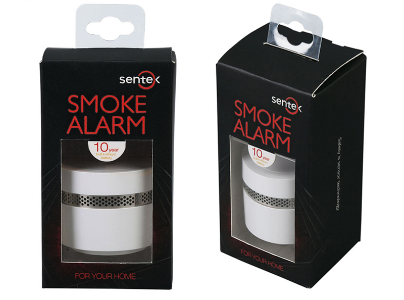 10 Years Life Lithium Battery Operated Smoke Detector