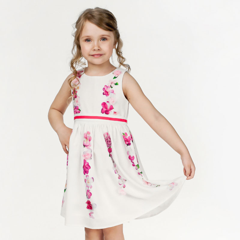 Cheap price children summer casual dress kids frock designs for pakistani girls