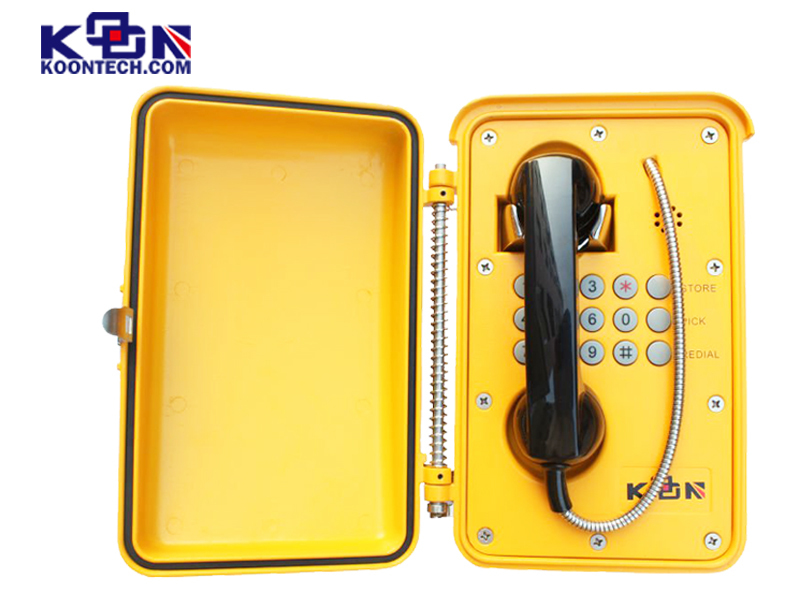 Robust aluminium alloy die-cast body Outdoor emergency telephone KNSP-01T2J weather proof phone Distributorfd
