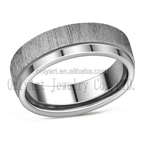 Latest simple men ring steel stretch band rings