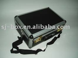 Black Aluminum Case with Strap