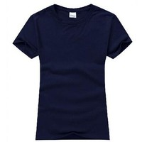 Multicolor Preshrunk 100% Cotton Plain Women Wholesale Cheap T Shirts