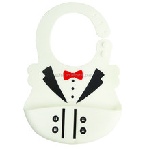 Soft Silicone Wipe Clean Waterproof Baby Bibs
