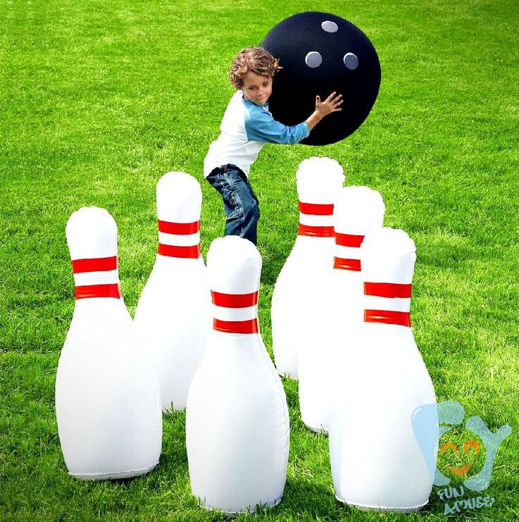 2016 funny inflatable bowling pin set for rent